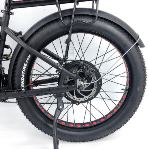 electric bike rear view - hub driven motor - fender included