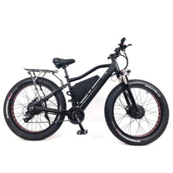 side view of 2 wheel drive electric bike - the HEC-DUAL750 by Hardcore eCycles has 2 750 watt motors