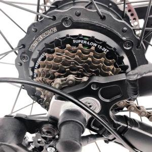 rear hub on electric ebike