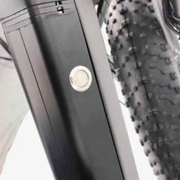 electric bike closeup of 60 volt battery - hardcore ebikes ecycles