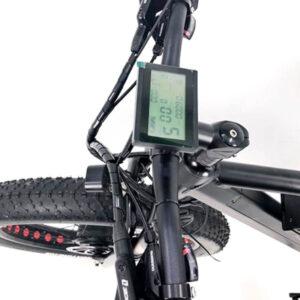 electric bike handlebar with LCD display on 2 wheel drive ebike