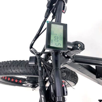 electric bike handlebar with LCD display on 2 wheel drive ebike