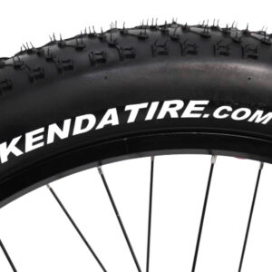 closeup of fat tire Kenda tire on electric bike by Hardcore eCycles