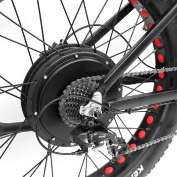 electric bike by hardcore ecycles - closeup of rear hub motor